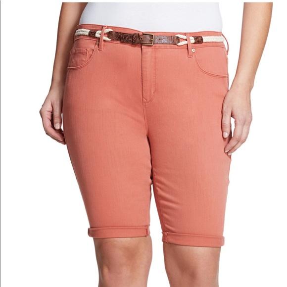 7fd58249b5 Gloria Vanderbilt Shorts | Joslyn Belted Bermuda Short Plus | Poshmark